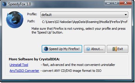 Как оптимизировать базу данных для ускорения Firefox.