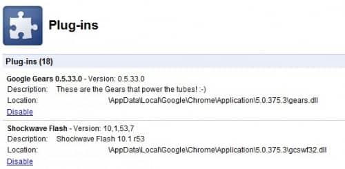 Плагин Adobe Flash в Google Chrome Flash.