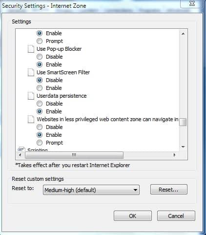 Как отключить фильтр SmartScreen в Internet Explorer.