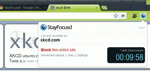 Stay Focusd для Google Chrome поможет Вам сосредоточится на работе.