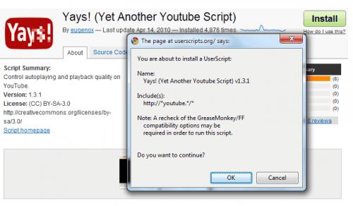 Увеличение поддержки Google Chrome UserScript.
