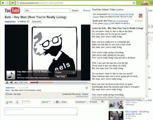 Автоматическое отображение текстов песен на YouTube [Chrome].