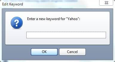 С помощью ключевых слов поиск и доступ к сайтам быстрее.