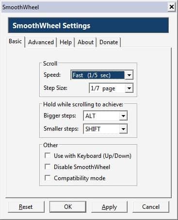 Прокрутка мышью в Firefox с SmoothWheel.
