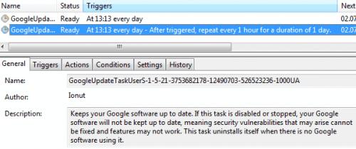 Изменения Google Update.