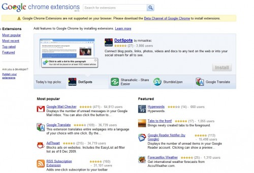 Официальный сайт расширений для Google Chrome.
