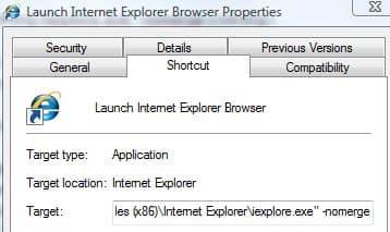 Коммутатор NoMerge для нескольких логинов в IE.