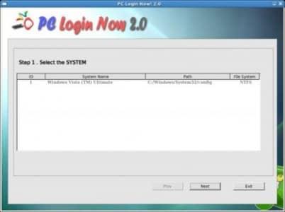 PCLoginNow cброс пароля в Windows.
