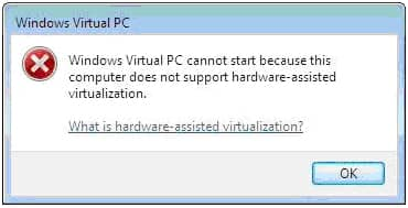 KB977206 для запуска Windows Virtual PC (XP Mode или VM) без аппаратной виртуализации.