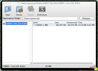 Распаковка образов Cisco IOS.