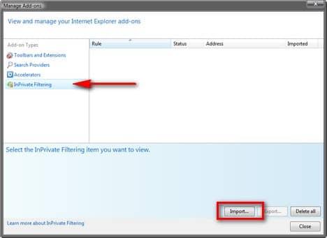Как использовать AdBlock Plus фильтры в Internet Explorer 8.