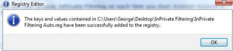 Сохранить Filtering InPrivate всегда включенной.