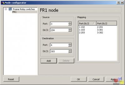 Переключение моделирования в GNS3.