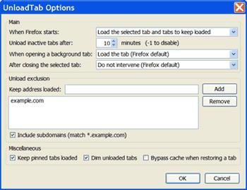 Firefox-Unload-Tab