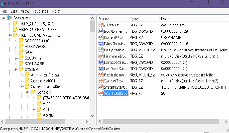 wait-tokil-lservice-option-in-registry-editor-wivdows10