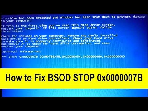 STOP 0X0000007B